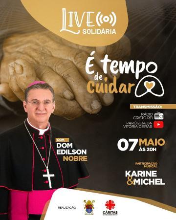 Diocese de Oeiras realizará live solidária em prol da Campanha é tempo de cuidar