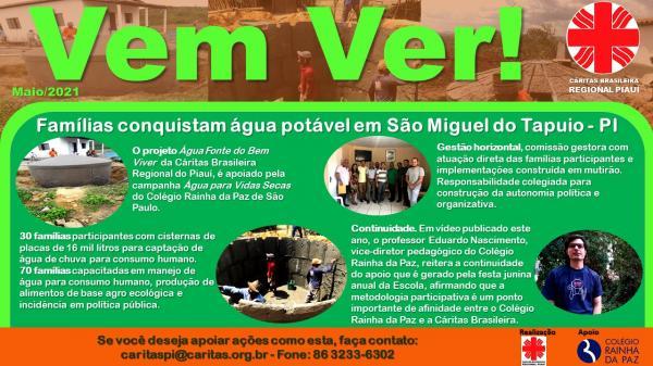 Cáritas Regional Piauí lança boletim informativo semanal VEM VER